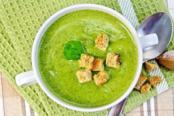 Веган супа от алкални зелени водороасли