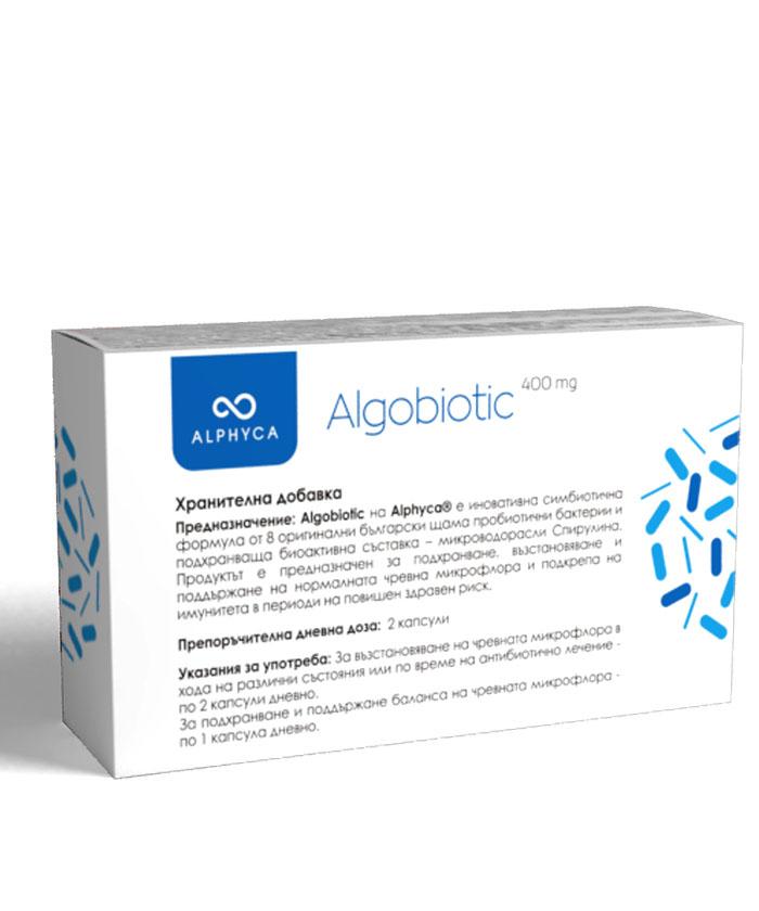 Алгобиотик, пробиотик, spirulina